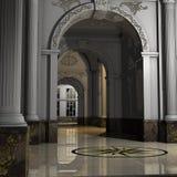 Grande Corridoio di lusso Immagine Stock Libera da Diritti