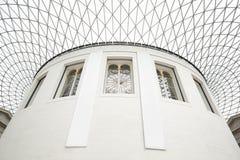 Grande cour de British Museum intérieure, plafond en verre à Londres Photographie stock