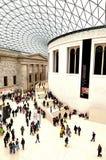 Grande cour de la Reine Elizabeth II du de British Museum Lond Photo stock
