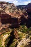 Grande courbure de Zion National Park Photo stock