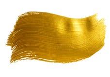 Grande course acrylique de brosse d'or Photo libre de droits