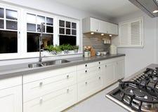 Grande cozinha Foto de Stock Royalty Free