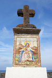 Grande croix en pierre, Forio, ischions, Italie Photos libres de droits