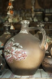 Grande cruche de poterie de terre photo stock