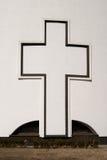 Grande cruz cristã Fotos de Stock