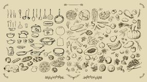 Grande cuisine d'ensemble - nourriture Image libre de droits