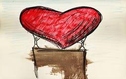 Grande cuore Fotografie Stock Libere da Diritti