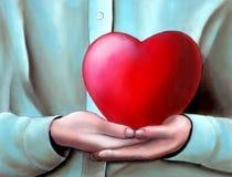 Grande cuore Immagine Stock