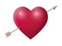 Grande cuore con la freccia Fotografia Stock Libera da Diritti