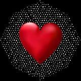 Grande cuore 3D Fotografia Stock