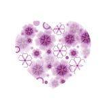 Grande cuore del fiore  Fotografia Stock Libera da Diritti