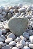 Grande cuore della pietra Fotografia Stock