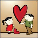 Grande cuore per voi illustrazione vettoriale