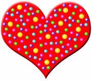 Grande cuore rosso illustrazione di stock