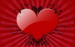Grande cuore rosso Immagine Stock