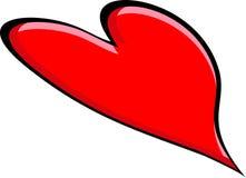 Grande cuore rosso Fotografie Stock Libere da Diritti