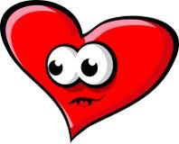Grande cuore rosso Fotografia Stock