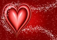 grande cuore rosso dei biglietti di S. Valentino royalty illustrazione gratis
