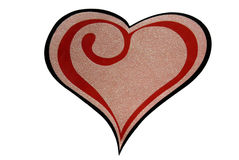 Grande cuore sopra bianco Immagini Stock Libere da Diritti