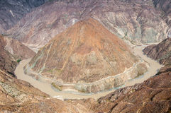 Grande curvatura do Rio Yangtzé Foto de Stock Royalty Free
