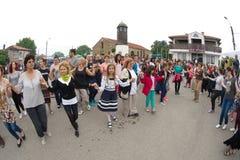 Grande danse folklorique aux jeux de Nestinar dans le village de Bulgari, Bulgarie Photo libre de droits