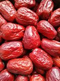 Grande date rouge - fruit de jujube Photos stock