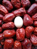 Grande date rouge - fruit de jujube - grande comme eeg Photographie stock