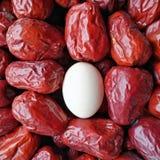 Grande date rouge - fruit de jujube - grande comme eeg Image libre de droits