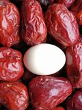 Grande date rouge - fruit de jujube - grande comme eeg Photo stock