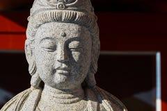 Grande de la estatua del guanyin de dios en el templo de China Foto de archivo
