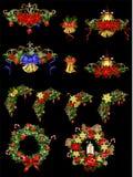 Grande decorazione di Natale con iluminazione pubblica Fotografia Stock Libera da Diritti