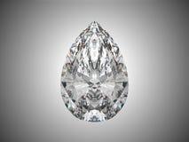 Grande diamante do corte da pera Foto de Stock