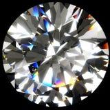 Grande diamante rotondo Fotografie Stock