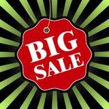 Grande distintivo nero di vendita di venerdì Illustrazione di vettore Fotografia Stock