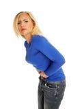 Grande douleur abdominale Photos stock