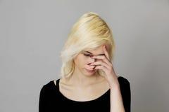 Grande douleur de sinus, problème médical Images stock