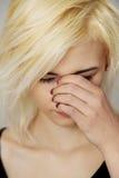 Grande douleur de sinus, problème médical Image libre de droits