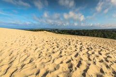 Grande duna di Pyla, la duna di sabbia più alta in Europa, Arcachon Immagini Stock Libere da Diritti