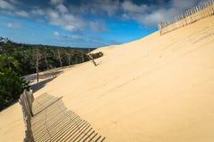 Grande duna di Pyla, la duna di sabbia più alta sedere in Europa, Arcachon Immagine Stock Libera da Diritti