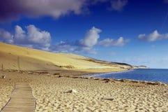 Grande Dune du Pilat, Frankrijk Stock Afbeelding
