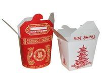 Grande e chinês pequeno a ir caixa Imagens de Stock Royalty Free