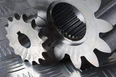 Grande e piccola parte meccanica Fotografia Stock Libera da Diritti