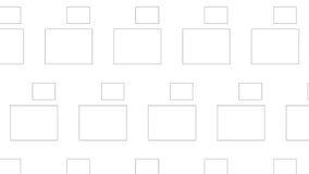Grande e piccolo modello monocromatico astratto moderno semplice di rettangolo Fotografia Stock