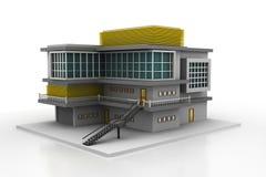 Grande edificio per uffici moderno Fotografie Stock