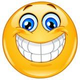 Grande emoticon di sorriso Fotografia Stock