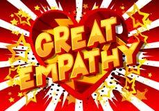 Grande empatia - palavras do estilo da banda desenhada ilustração royalty free
