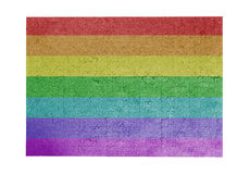 Grande enigma de serra de vaivém de 1000 partes da bandeira do arco-íris Imagens de Stock Royalty Free