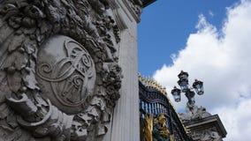 Grande entrata del Buckingham Palace Immagine Stock