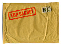 Grande envelope marrom com selo do segredo máximo Fotografia de Stock Royalty Free