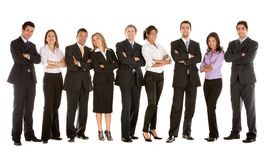 Grande equipe do negócio Imagens de Stock
